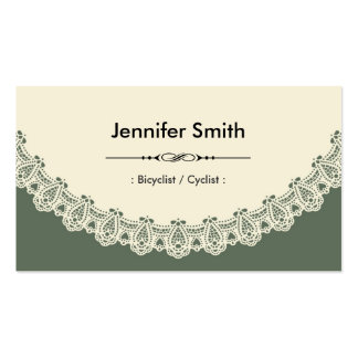 Bicyclist / Cyclist - Retro Chic Lace Business Card Template