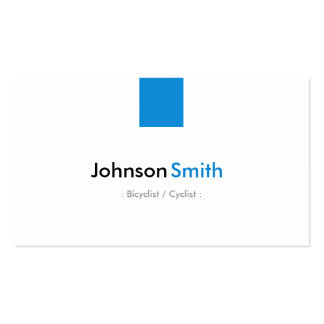 Bicyclist / Cyclist - Simple Aqua Blue Pack Of Standard Business Cards