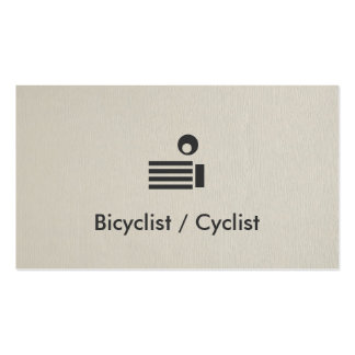 Bicyclist / Cyclist Simple Elegant Professional Pack Of Standard Business Cards