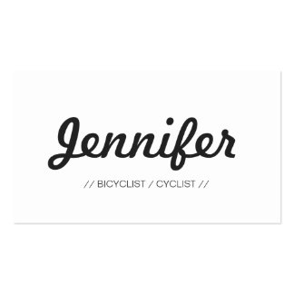 Bicyclist / Cyclist - Stylish Simple Concise Pack Of Standard Business Cards
