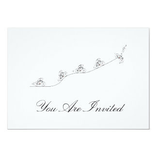 Bicyclist going over the hill 13 cm x 18 cm invitation card