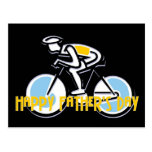 Bicyclist - Happy Father's Day Postcard