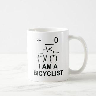 Bicyclist Symbol Basic White Mug