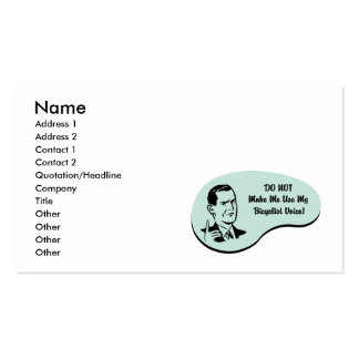 Bicyclist Voice Business Card