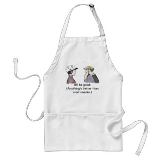 Bicyclists are easy to please standard apron