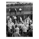 Bidding on Grain Futures, 1939 Postcard