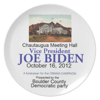 Biden Chautaugua Party Plates