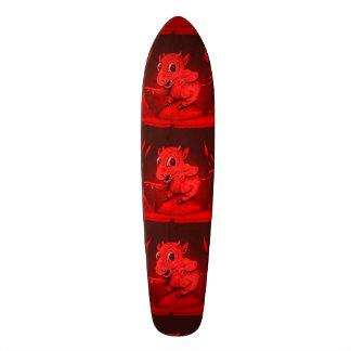 "BIDI ALIEN DEVIL CARTOON Skateboard 7 1/8"""