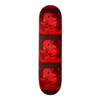 "BIDI ALIEN DEVIL CARTOON Skateboard 7 7/8"""