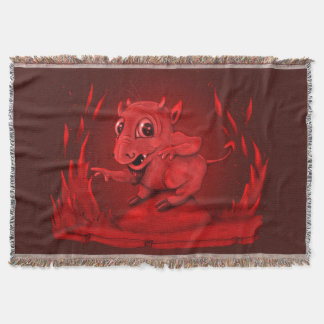 BIDI ALIEN DEVIL CARTOON Throw Blanket