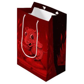 BIDI DEVIL CARTOON GIFT BAG MEDIUM GLOSSY