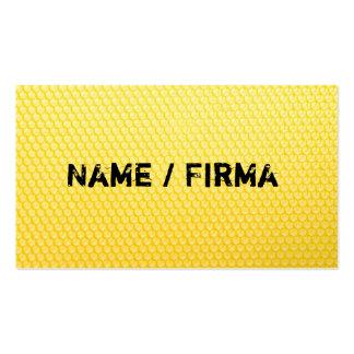 Bienenwarbe - visiting cards pack of standard business cards