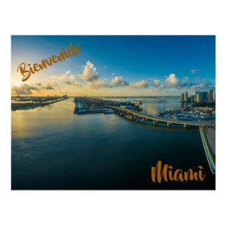 Bienvenido a la postal de Miami Postcard