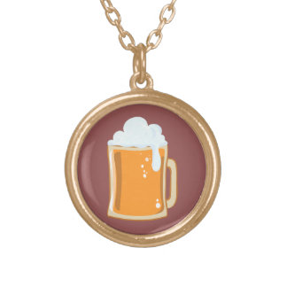 Bier beer gold plated necklace