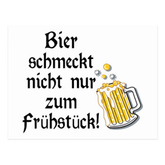 Bier schmeckt nicht nur zum Frühstück Postcard
