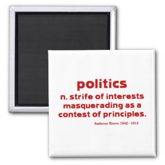 Bierce on Politics Magnet