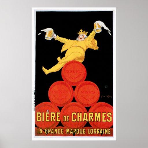 Biere De Charmes Vintage Drink Ad Art Poster