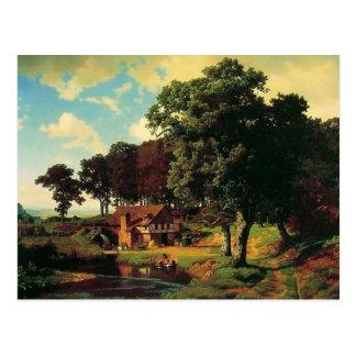 Bierstadt Albert, A Rustic Mill Postcard