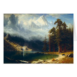 Bierstadt Mount Corcoran Greeting Card