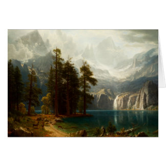 Bierstadt Sierra Nevadas Greeting Card