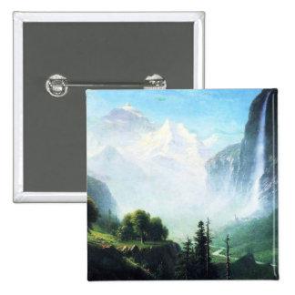 Bierstadt Staubbach Falls Button