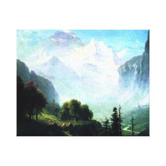 Bierstadt - Staubbach Falls near Lauterbrunnen Canvas Print