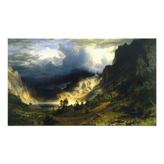 Bierstadt Storm in the Rocky Mountains Photo