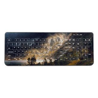 Bierstadt Storm Rocky Mountains Wireless Keyboard