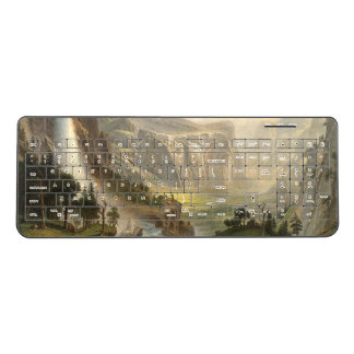 Bierstadt Yosemite Waterfall Mountains Keyboard