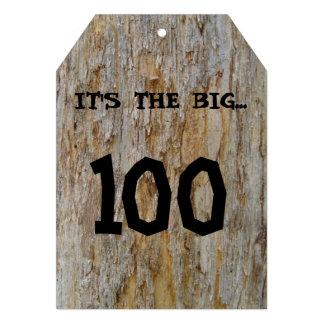 Big 100 Birthday Invitation