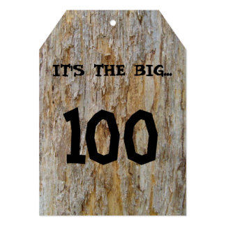 "Big 100 Birthday Invitation 5"" X 7"" Invitation Card"