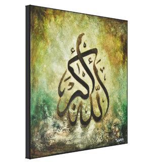 BIG 16x16 ALLAH-U-AKBAR - Canvas Islamic Art!! Canvas Print