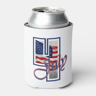BIG 4 July 4th Beverage Can Cooler