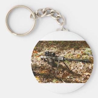 Big 50 Cal. Gun Basic Round Button Key Ring