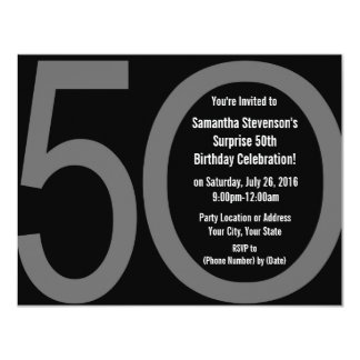 Big 5-0 Birthday Party Invitations