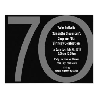 "Big 7-0 Birthday Party Invitations 4.25"" X 5.5"" Invitation Card"