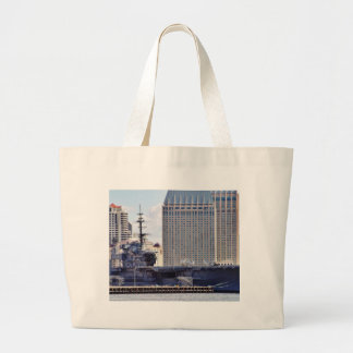 Big Aircraft Carrier Ship Tote Bags