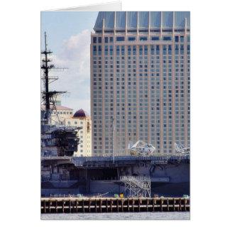 Big Aircraft Carrier Ship Card
