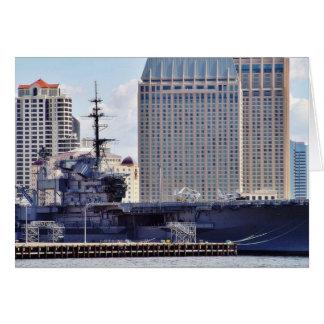Big Aircraft Carrier Ship Greeting Card