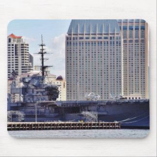 Big Aircraft Carrier Ship Mouse Pads