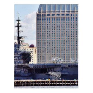 Big Aircraft Carrier Ship Postcard