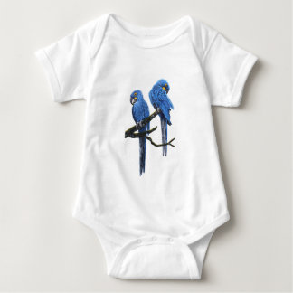 Big and blue Hyacinth Macaws Baby Bodysuit