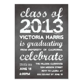 Big and bold gray chalkboard typography modern 13 cm x 18 cm invitation card