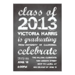 Big and bold grey chalkboard typography modern 13 cm x 18 cm invitation card