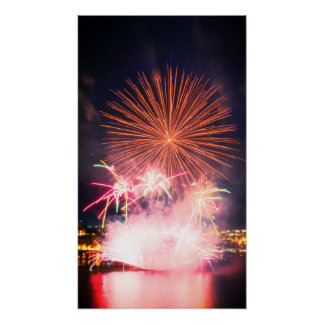 Big and Bright Fireworks Poster
