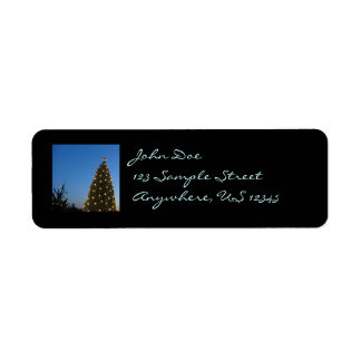 Big and Little Christmas Trees Return Address Labe Return Address Label