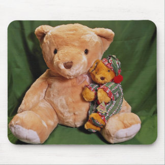 Big and little teddy bears mouse pad