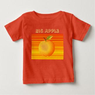Big Apple Cartoon Vibrant Fruit Artistic Stripes Baby T-Shirt
