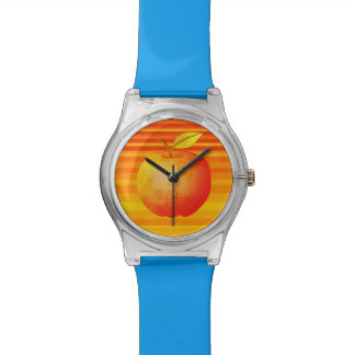 Big Apple Cartoon Vibrant Fruit Artistic Stripes Watch