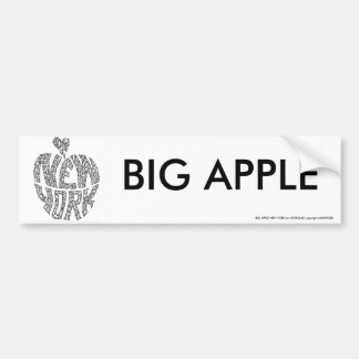 BIG APPLE - NEW YORK by NICHOLAS Bumper Sticker